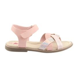 Sandaler metallflickor American Club GC23 rosa