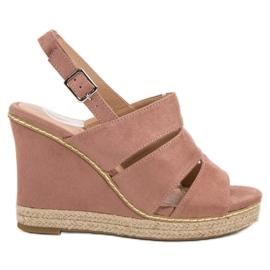 Primavera Pulverformiga sandaler rosa