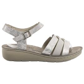 Evento grå Silver Sandaler