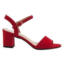 Evento röd Sandaler i baren