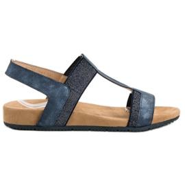 Evento Blå Slip-on Sandaler