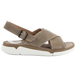 Filippo brun Läder Sandaler På Plattformen