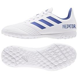 Fotbollsstövlar adidas Predator 19.4 Tf Jr CM8558 vit vit, blå