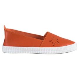 Kylie apelsin Slip-on sneakers