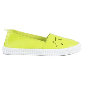 Kylie grön Slip-on sneakers