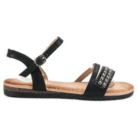 Groto Gogo svart Sandaler Med Brocade