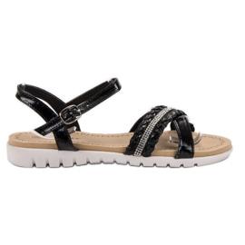 Groto Gogo svart Sandaler Med kristaller