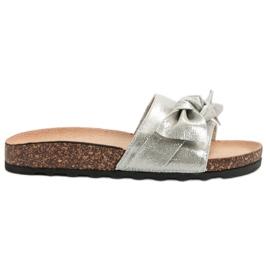 Queen Vivi grå Casual Flip Flops With Brocade