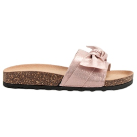 Queen Vivi rosa Casual Flip Flops With Brocade