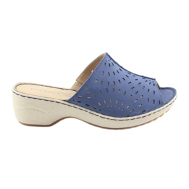 Kvinnors tofflor koturno Caprice 27351 jeans blå