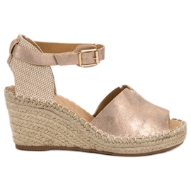 Evento rosa Casual wedge sandaler