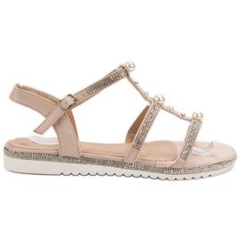 GUAPISSIMA Sandaler Med Pärlor rosa