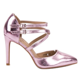Kylie rosa Glänsande modepinnar
