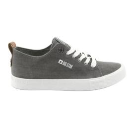Mäns gråa sneakers Big Star 174165