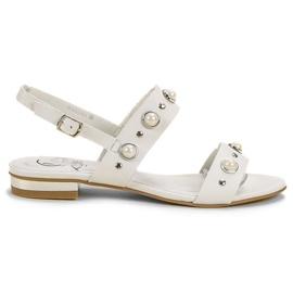 Kylie vit Bekväma platta sandaler