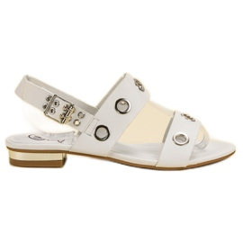 Kylie Casual White Sandals vit