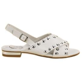 Kylie Vit sandaler fastspända med en spänne