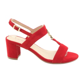 Röd Sandaler på stolpen Red Caprice 28303