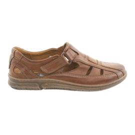 Riko 458 bruna mäns komfort sandaler