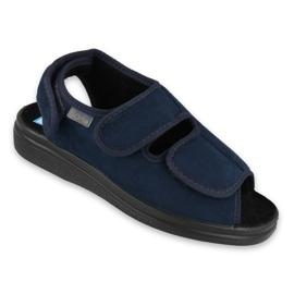 Marinblå Befado kvinnors skor pu 676D003