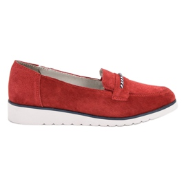 Filippo röd Lädermokasiner