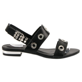 Kylie svart Casual Black Sandals