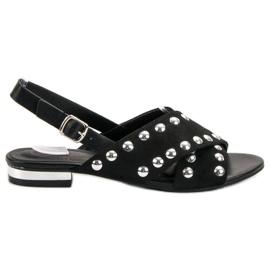 Kylie Svarta sandaler fastspända med spänne
