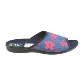 Kvinnors tofflor i blommor Adanex marinblå