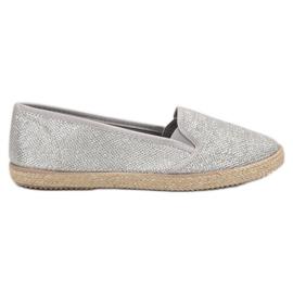 Balada grå Silver Slipons