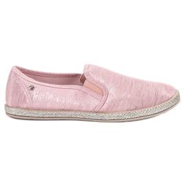 Balada Glänsande Sneakers Slip On rosa
