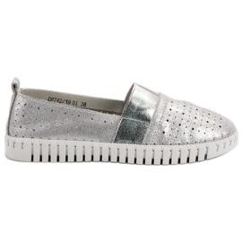 Filippo grå Slip-on skor med brokad