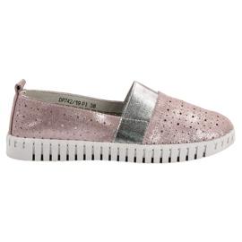 Filippo rosa Slip-on skor med brokad