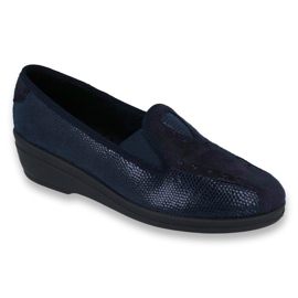 Marinblå Befado kvinnors skor pu 035D001