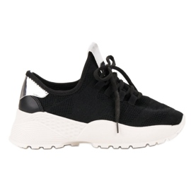 Vices svart Textil Sportskor