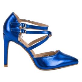 Kylie Glänsande modepinnar blå