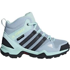 Blå Adidas Terrex AX2R Mid Cp Jr BC0672 skor