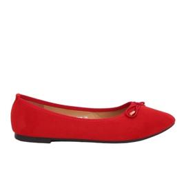 Ballerinas med mandel, röd 8F58 Röd