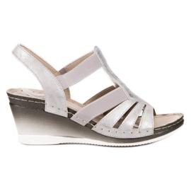 Goodin grå Slip-on Wedge Sandals