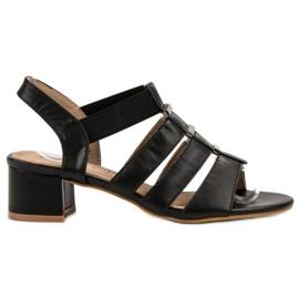 Evento svart Slip-on High Heels