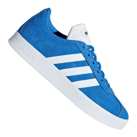 Blå Adidas Vl Court 2.0 Jr F36376 skor