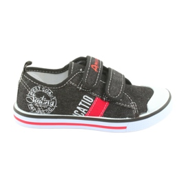 Velcro sneakers American Club svarta jeans