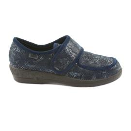 Marinblå Befado kvinnors skor pu 984D015