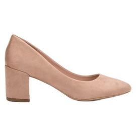 Small Swan brun Suede Pumps