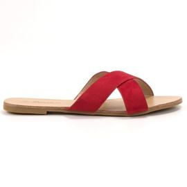 Primavera Bekväma Plana Slippers röd