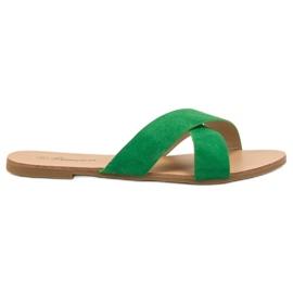Primavera grön Bekväma Plana Slippers