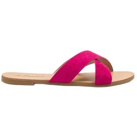 Primavera rosa Bekväma Plana Slippers