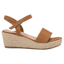 Vices brun Platform Sandaler