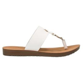 Snygga VINCEZA flip-flops vit