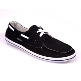 Svart Sailor Moccasins 417 Black