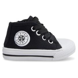 Svart High Children's Sneakers Y1309 Black